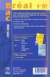 Francais ; premiere stt - 4ème de couverture - Format classique