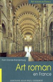 Art roman en france - Couverture - Format classique