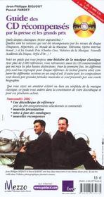 Guide des cd recompenses ; edition 2002 - 4ème de couverture - Format classique