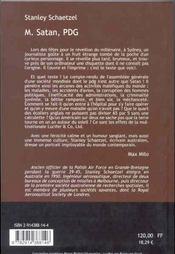 M. satan pdg compte-rendu de l'assemblee generale seculaire - 4ème de couverture - Format classique