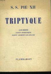 Triptyque. Lourdes, Saint Dominique, Saint Albert-Le-Grand. - Couverture - Format classique