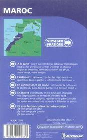 Voyager Pratique ; Maroc - 4ème de couverture - Format classique
