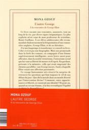 L'autre George ; à la rencontre de George Eliot - 4ème de couverture - Format classique