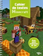 Minecraft ; cahier de textes (édition 2019/2020) - Couverture - Format classique