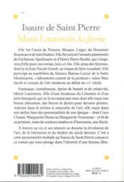 La féerie Marie Laurencin - 4ème de couverture - Format classique