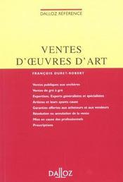 La Vente D'Oeuvres D'Art Et D'Objets De Collection ; 1e Edition - Intérieur - Format classique