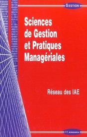 Sciences de gestion et pratiques manageriales - Intérieur - Format classique