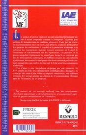 Sciences de gestion et pratiques manageriales - 4ème de couverture - Format classique