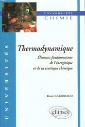 Thermodynamique Elements Fondamentaux De L'Energetique Et De La Cinetique Chimique - Intérieur - Format classique