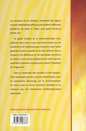 Les Bienfaits De La Vitaminotherapie - 4ème de couverture - Format classique