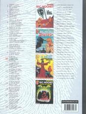 Ric Hochet ; INTEGRALE VOL.10 - 4ème de couverture - Format classique