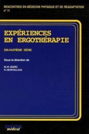 Expériences en ergothérapie ; 18ème série - Couverture - Format classique