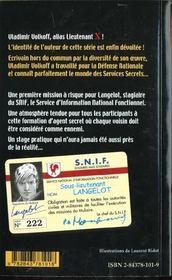 Langelot 01 - Langelot Agent Secret - 4ème de couverture - Format classique