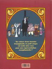 Étoile t.1 ; le petit cirque - 4ème de couverture - Format classique