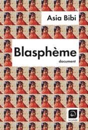 Blasphème - Couverture - Format classique