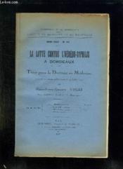 Faculte De Medecine Et De Pharmacie N° 114. La Spirochetose Grippo Typhosa Dans Le Sud Ouest De La France. - Couverture - Format classique