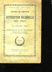 Distribution Solennelle Des Prix - Couverture - Format classique