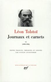 Journaux et carnets (tome 2-1890-1904) - Couverture - Format classique