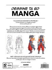 Dessine ta bd manga ; techniques et astuces - 4ème de couverture - Format classique
