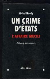 Un Crime D'Etats. L'Affaire Mecili - Couverture - Format classique