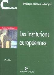 Les institutions européennes (7e édition) - Intérieur - Format classique