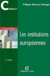 Les institutions européennes (7e édition) - Couverture - Format classique