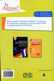 In aktion ; allemand ; 2e année ; cahier d'exercices (édition 2008) - 4ème de couverture - Format classique