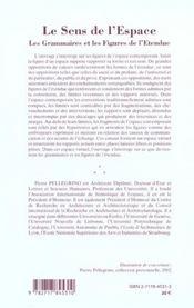 Le Sens De L'Espace T.3 ; Les Grammaires Et Les Figures De L'Etendue - 4ème de couverture - Format classique