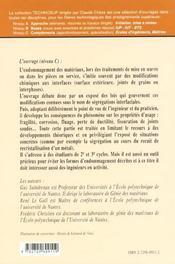 Genie Des Materiaux Endommagement Interfacial Des Metaux Segregation Interfaciale Et Consequences - 4ème de couverture - Format classique