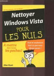 Nettoyer windows vista pour les nuls - Couverture - Format classique