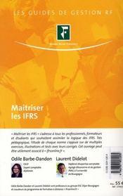 Maîtriser les IFRS (3e édition) - 4ème de couverture - Format classique