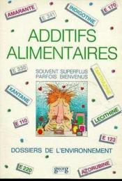 Additifs Alimentaires - Couverture - Format classique