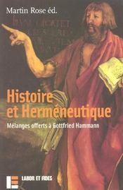 Histoire et hermeneutique - Intérieur - Format classique