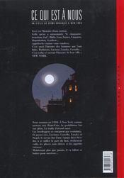 Ce qui est à nous ; deuxième époque t.1 ; the big seven - 4ème de couverture - Format classique