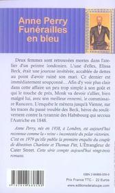 Funérailles en bleu - 4ème de couverture - Format classique