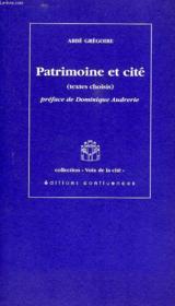 Patrimoine Et Cite - Couverture - Format classique