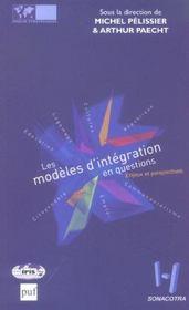 Les Modèles D'Intégration En Questions. Enjeux Et Perspectives - Intérieur - Format classique