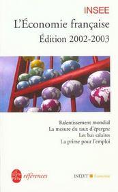 L'Economie Francaise 2002-2003 - Intérieur - Format classique