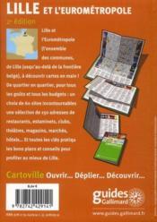 Lille et l'Eurométropole - 4ème de couverture - Format classique