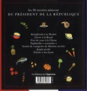 Les 36 recettes minceur du président de la République - 4ème de couverture - Format classique