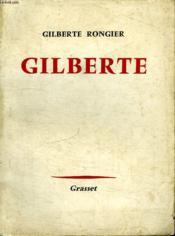 Gilberte. - Couverture - Format classique