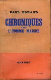 Chroniques De L Homme Maigre. - Couverture - Format classique