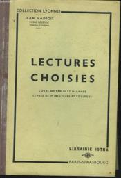 LECTURES CHOISIES. COURS MOYEN 1re ET 2e ANNEE, CLASSE DE 7e DES LYCEES ET COLLEGES - Couverture - Format classique