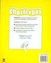 Chatterbox ; activity book t.2 - 4ème de couverture - Format classique