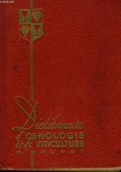 Dictionnaire D'Oenologie Et De Viticulture - Couverture - Format classique