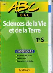 Abc Sciences Vie Terre 1ere S - Couverture - Format classique