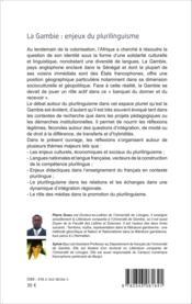 La Gambie t.2 ; enjeux du plurilinguisme ; actes du colloque international, faculté des lettres et sciences de l'université de Gambie - Couverture - Format classique