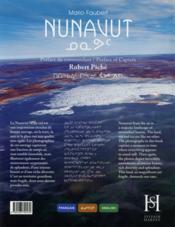 Nunavut - 4ème de couverture - Format classique