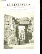 L'ILLUSTRATION JOURNAL UNIVERSEL N° 2916 - Gravures: rastauration du temple de Karnak, statue et temple de Ramsés II apres le debaiement et le redressement, photo par Aug.André et Beato - la perte de l'
