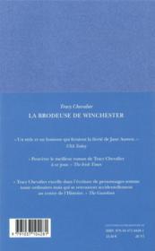 La brodeuse de Winchester - 4ème de couverture - Format classique